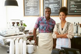 Marketing POS to restaurant owners such as these coffee shop owners, requires attention to content marketing and your website